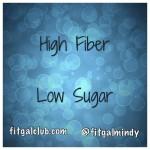 The Fiber to Sugar Ratio!