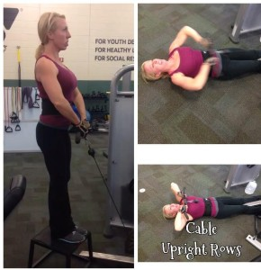 Weekly fave exercise cable upright row pic