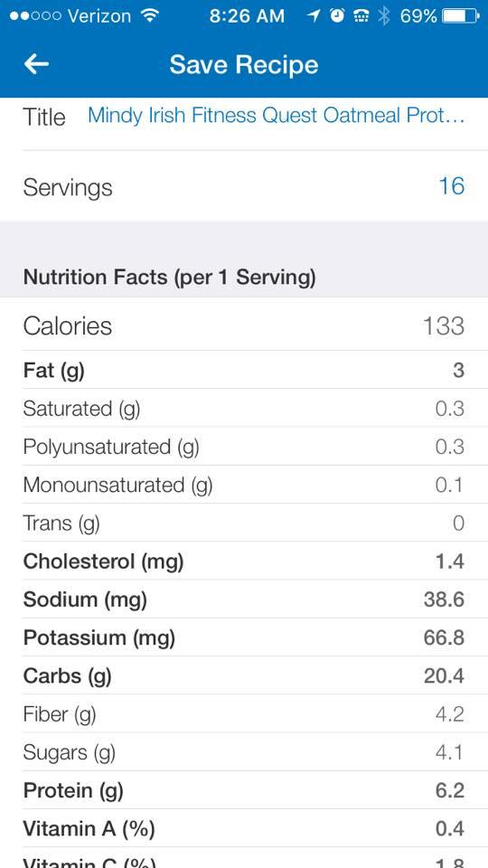 Quest oatmeal bars MIF